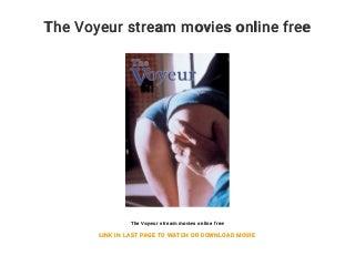 The Voyeur stream movies online free