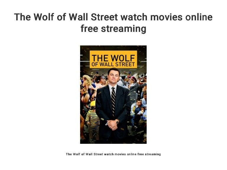 Wolf Of Wall Street Watch Online