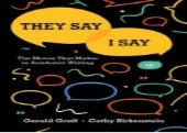 (*EPUB)->DOWNLOAD They Say / I Say: The Moves That Matter in Academic Writing By Gerald Graff Book On Kindle