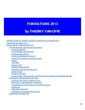 Thierry vanoffe formations 2013