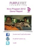 thinc 2012 Donor Report