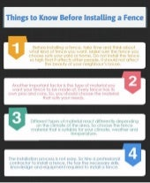 Things to Know Before Installing a Fence