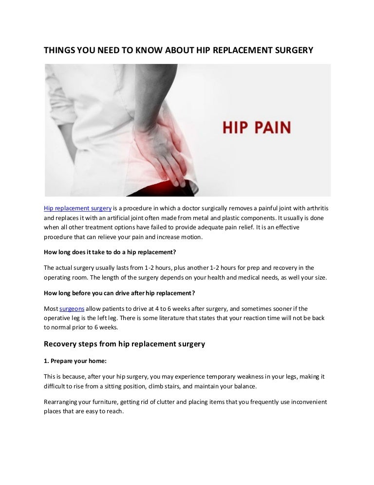Things you should know about hip replacement surgery in jaipur