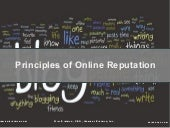 Principles of Building an Online Reputation