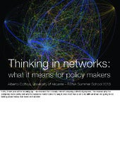 Thinking in networks – #RENAschool