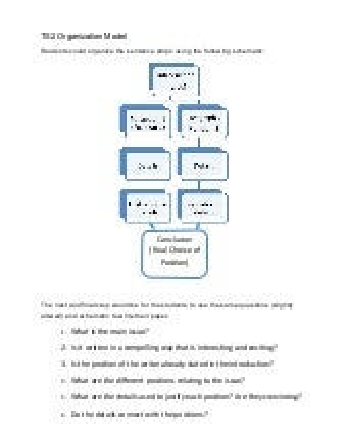Thinksheet 2 -  Organization