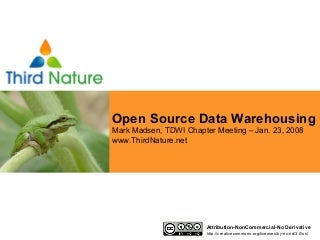 Third Nature - Open Source Data Warehousing