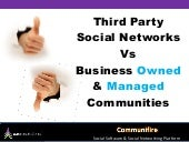Third Party Social Networks Vs Business Owned Communities As A Social Marketing Strategy