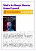 Thought elevators system program