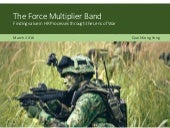 The Force Multiplier Band: Finding Value in HR Processes through the Lens of War