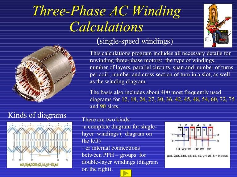 Three Phase Ac Winding Calculation