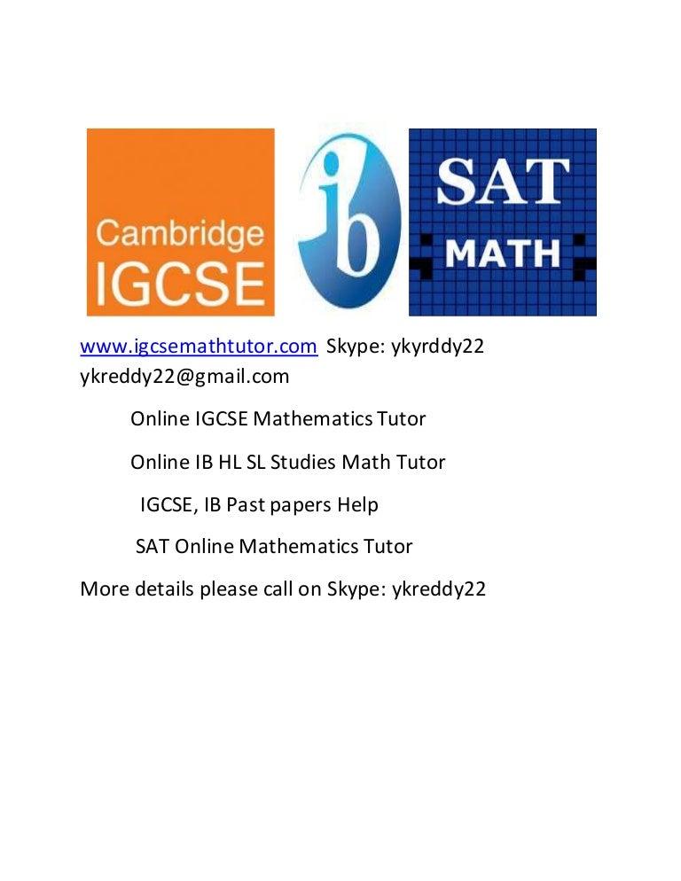 Mathematics Home tutor,Online Mathematics online tutor ,igcse ib hl,s…