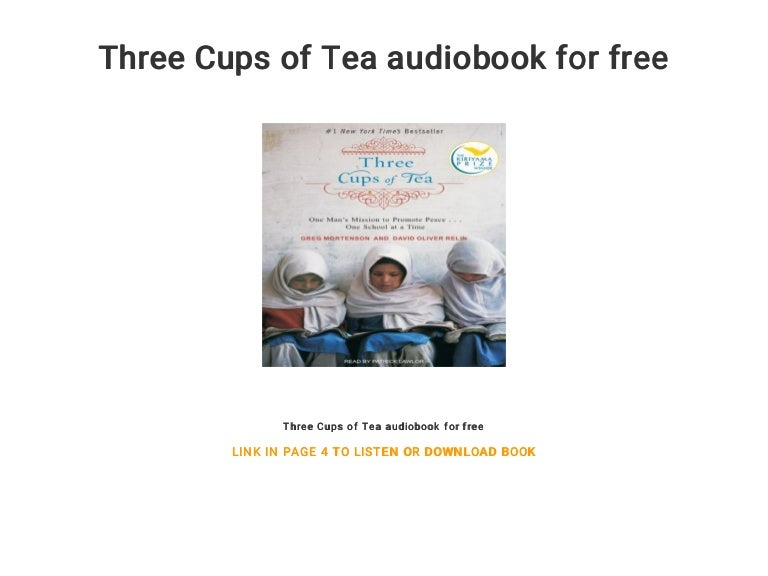three cups of tea audiobook free download