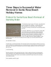 Three Steps to Successful Water Removal for Beach Homes