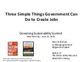 Job Creation: Three Things Government Can Do