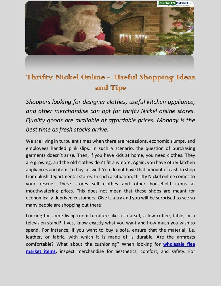 Thrifty Nickel Online - Useful Shopping Ideas and Tips