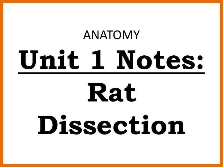 Ths anatomy unit 1 introduction rat notes (2015-2016)