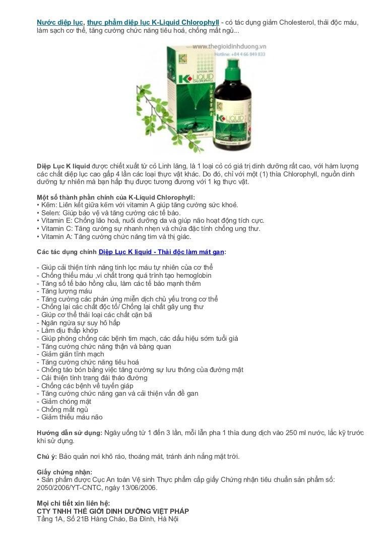 Thc Phm Dip Lc K Liquid Chlorophyll