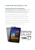 Thumbs up with samsung galaxy 7.7 tab