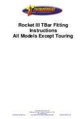 Thunderbike Triumph Rocket 3 T Bars Fitting Instructions - All Models Except Touring