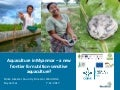 Aquaculture in Myanmar – a new frontier for nutrition-sensitive aquaculture?