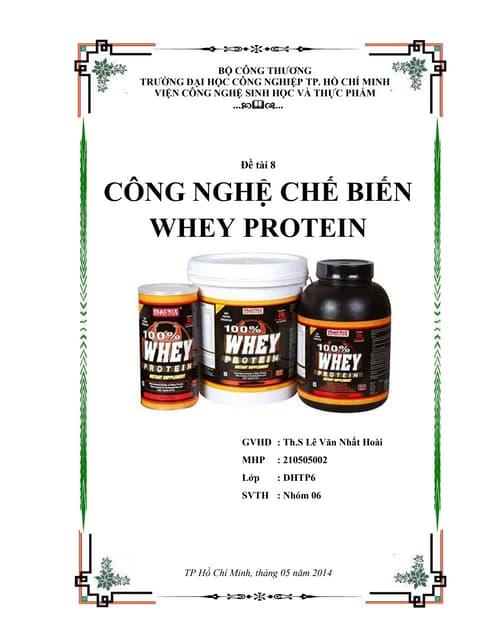 Công nghệ chế biến Whey protein