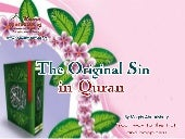 The original sin in Islam