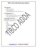 TIBCO AMX BW ONLINE TRAINING (freelancer) @ tibco adda