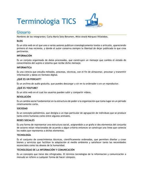 Tecnologias de la información y comunicación