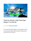 TiDom Inc Review. High Ticket Hype Wagon? You Decide!