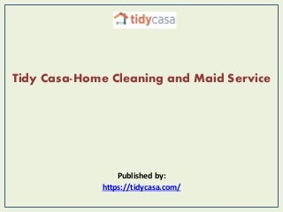 Tidy casa home cleaning and maid service