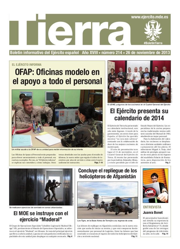 Boletín informativo Tierra 214. 26 noviembre 2013 00b23ad79d9