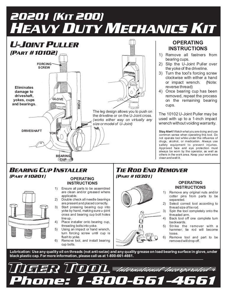 Tiger Tool 10201 Bearing Cup Installer