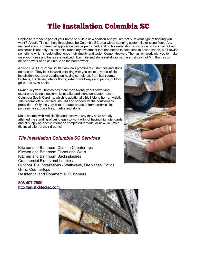 Tile Installation Columbia SC - Ceramic tile installer job description