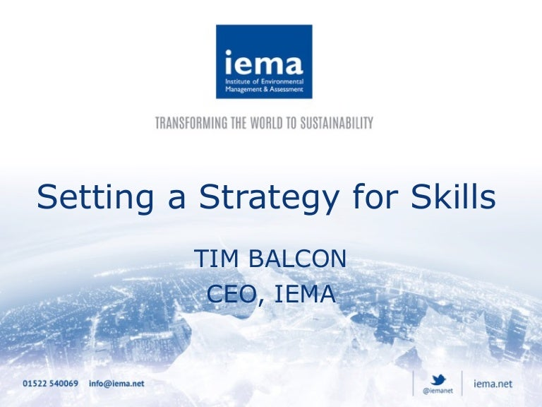 Tim Balcon - Setting a strategy for skills