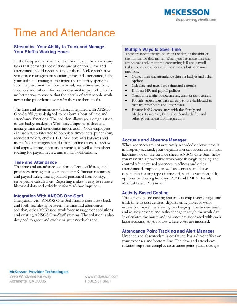 time and attendance fact sheet