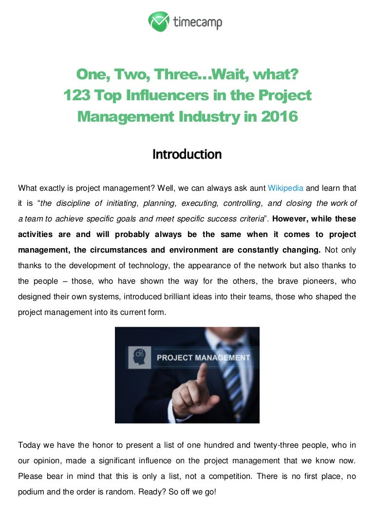 123 top influencers in the project management industry in 2016 xflitez Gallery