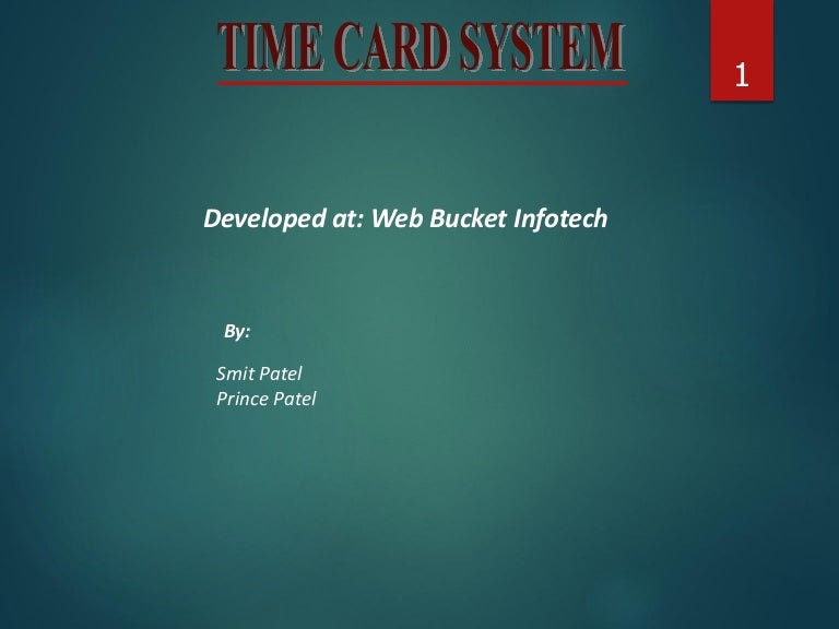 Time card system