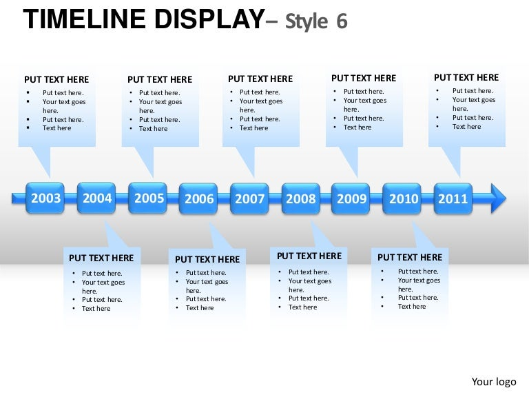 Roadmap Timeline Display Style Powerpoint Presentation Templates - Yearly roadmap template
