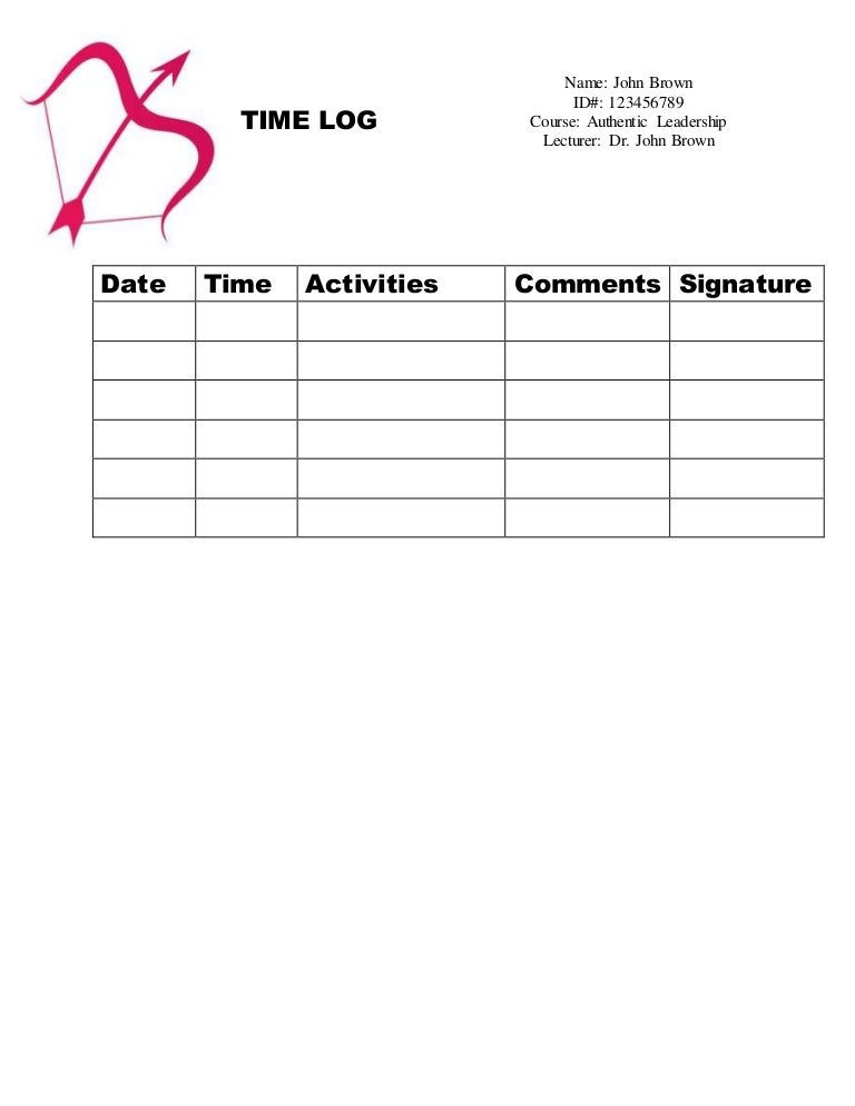 Time Log Sample Drive Log Template Sample Log  Log Templates