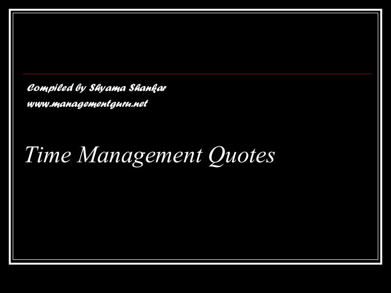 Golden Time Management Quotes Time Is Precious