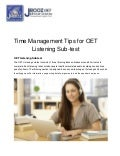 Time Management Tips for OET Listening Sub-test