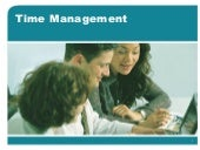 Time Management Training Ppt
