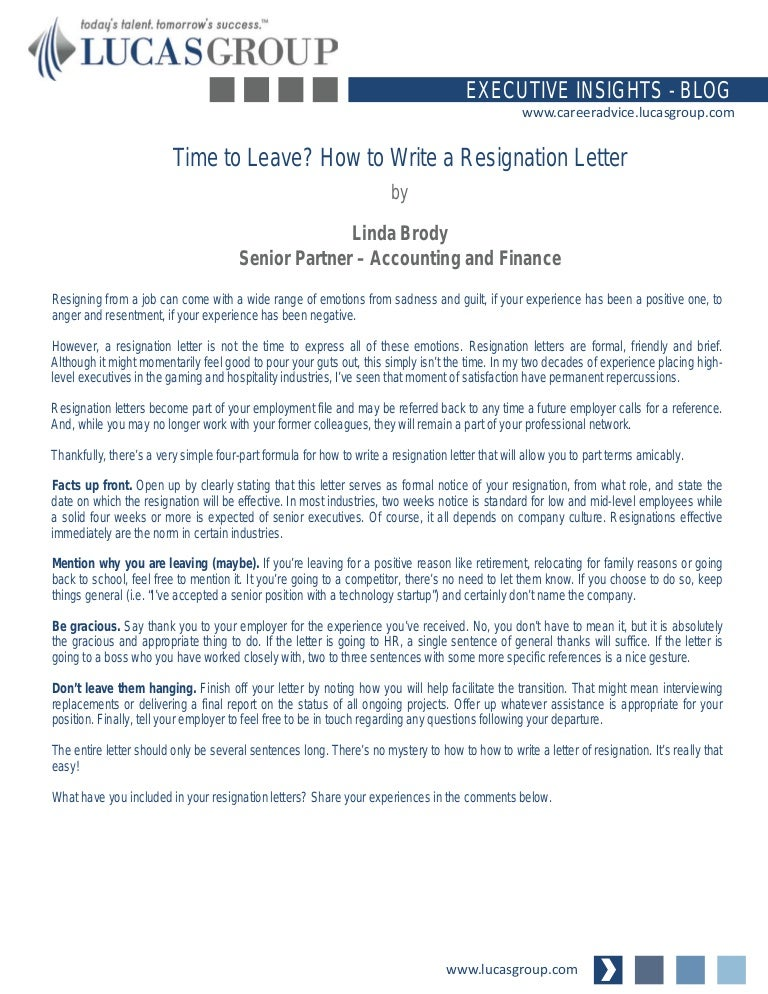 Time to leave how to write a resignation letter how to write a resignation letter spiritdancerdesigns Gallery