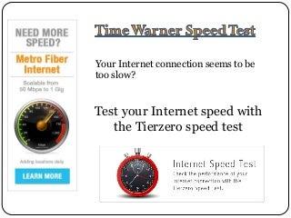 my speed test