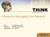 4 Rules for Building Your Network
