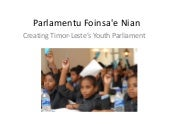 Timor Leste - Creating Youth Parliament