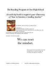 the reading program at our high school -- tips about how to MARK THE BOOK