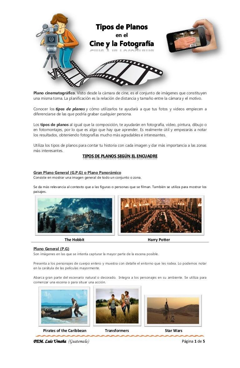 Tipos de plano en el cine y fotografía