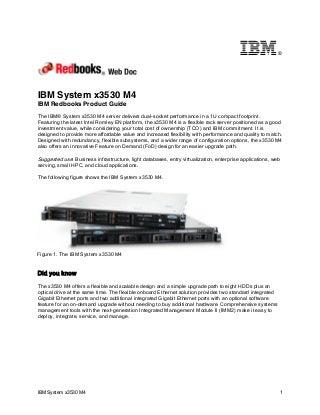 IBM Redbooks Product Guide: IBM System x3530 M4